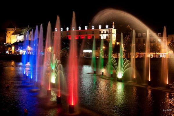Laval - Illuminations de nuit